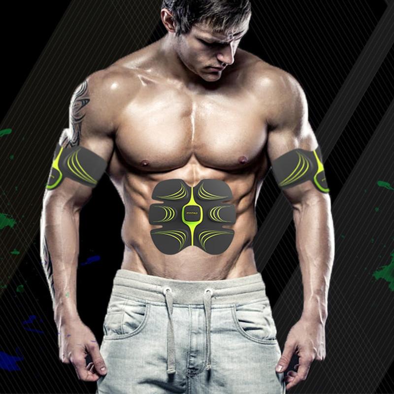 Wireless Muscle Stimulator EMS Stimulation Body Slimming Machine Abdominal Muscle Exerciser Training Device Body Massager unisex electronic wireless muscle stimulation system body massager 2017 best selling