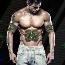 무선 근육 자극기 EMS 자극 바디 슬리밍 기계 복부 근육 운동기 훈련 장치 바디 마사지