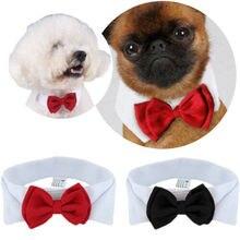 Мода Pet Puppy Kitty Dogs Cat регулируемый галстук-бабочка ошейник галстук бант одежда