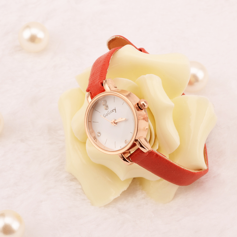 Mini Ladies Watches Top Brand Gogoey Thin leather Crystal Women Watch Wristwatch Clock reloj mujer relogio feminino saat montre guou luxury rose gold watch women watches fashion women s watches top brand ladies watch clock saat reloj mujer relogio feminino