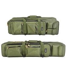 Ткань Оксфорд 3-Слои большого Ёмкость 80 см 100 Сумки для рыбалки морской рыбалки посылка Удочка складная сумка