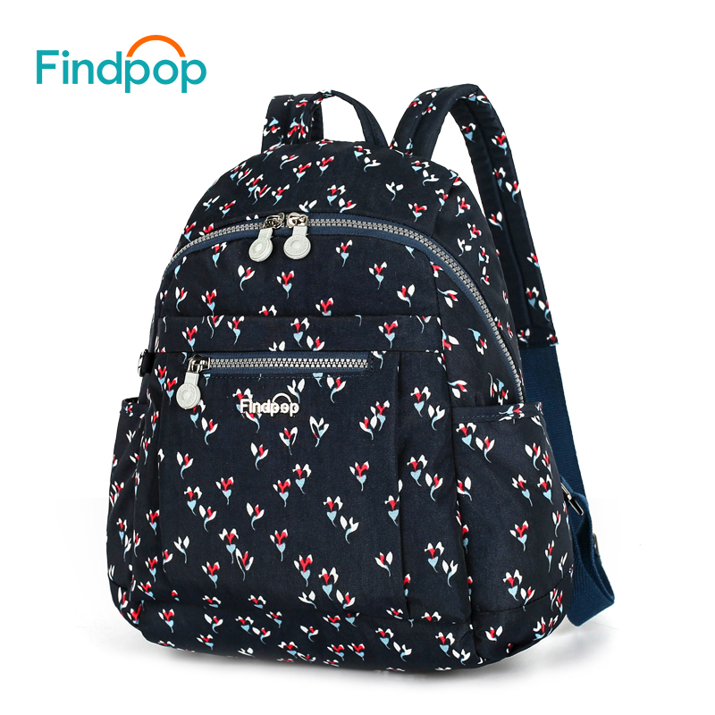 Findpop Folral Printing Backpack Bag For Women 2018 New Canvas Backpack Female Waterproof Large Capacity Casual
