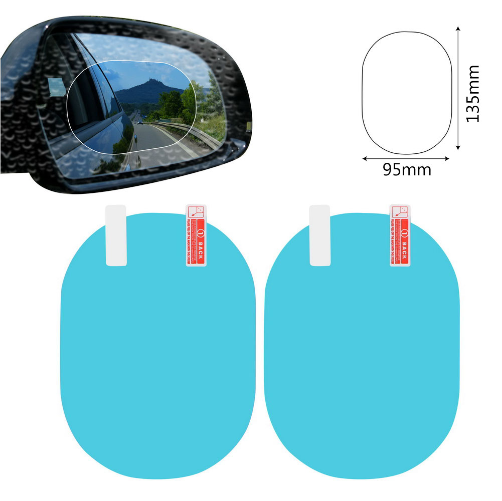 2PCS/Set Anti Fog Car Mirror Window Clear Film Anti-glare Car Rearview Mirror Protective Film Waterproof Rainproof Car Sticker 8