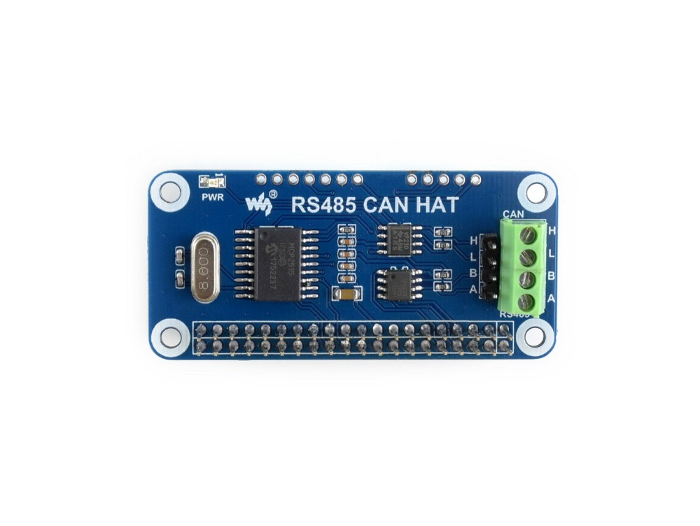 Waveshare RS485 CAN HAT For Raspberry Pi Allows Stable Long-distance Communication SPI Interface