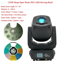 Professional LED 230W Beam Spot Wash 3IN1 Moving Head Stage Light DMX512 Disco DJ KTV Club Party Christmas LED Stage Effect Lamp