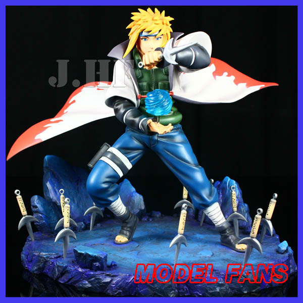 MODEL FANS Anime Naruto 32cm Namikaze Minato Resin GK PVC Action Figure Model Statue High Quality hot anime naruto 4th hokage namikaze 6 action figure collectible pvc model gift toy