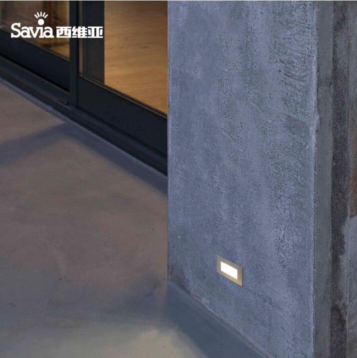 0.7 Вт светодиодные steplight, лестница фары кирпич, ноги света с атласной Алюминий Панель ...