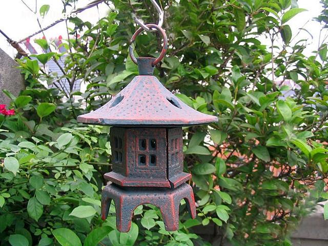 Portacandele Da Giardino : Cast vintage ferro hanging garden lanterna metallo portacandele
