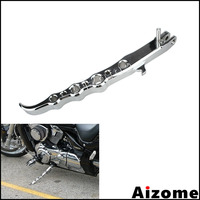 1x Chrome Motorcycle Kickstand Kick Stand For Suzuki Boulevard M109R 2006 2010 2011 2012 2013 2014 Exotic Anodized Side Stand
