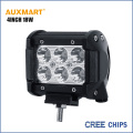 Auxmart Cree Chips 4Inch 18W spot beam LED work Light Bar Offroad Tractor Truck 4x4 SUV ATV Motorcycle headlight fog lamp 12 24V