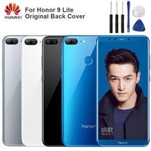 Original Glass Battery Rear Case For Huawei Honor 9 Lite Back Cover Phone Backshell Cases