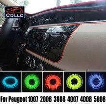 Новый EL Провода Для Peugeot 1007/2008/3008/4007/4008/5008/Украшение Автомобиля Холодный Свет Лампы Атмосфера/9 М Набор