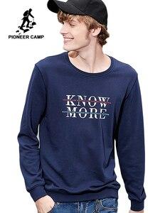 Image 1 - Pioneer camp new outono camisola hoodies dos homens de roupas de marca de moda casual letra impressa hoodies masculinos de algodão tops AWY801265