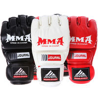 2016 New Kick MMA Boxing Gloves Top Quality PU Leather MMA Half Fighting Boxing Gloves Competition