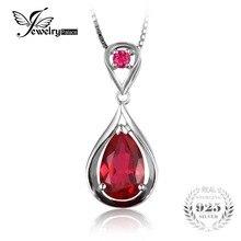 Jewelrypalace капли воды 4ct красный рубинов создано-летию кулон чистая стерлингового серебра 925 подарков не включает цепь