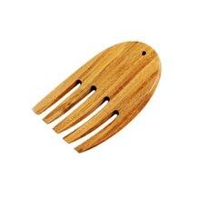 Бамбуковые Серверы для салата, натуральные бамбуковые ручки для салата, большая ложка для салата, вилка для салата, инструменты, кухонные гаджеты