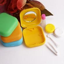 estuche lentillas Easy Carry Mini Mirror Contact Lens Travel Kit Case Storage Holder Container Box lentes de contato coloridas o