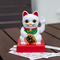 CATTITUDE LUCKY CAT WITH ATTITUDE Funny Middle Finger Lucky Cat Shaking Hands Lucky Cat Fortune Crafts Figurines Novelty Gift