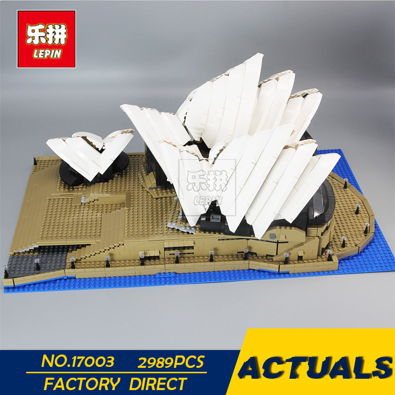 LEPIN 17003 2989Pcs Creator Sydney Opera House Model Building Blocks Toys Kids Gift educational for children Compatible 10222 lepin 17003 2989pcs sydney opera house model building kits blocks bricks toys compatible legoed 10222
