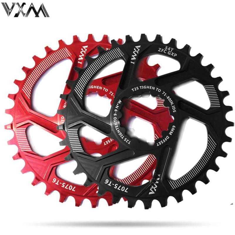 VXM Vélo Pédalier 30 t 32 t 34 t 36 t 38 t Étroite Large Plateau Vélo De Pour GXP XX1 x9 XO X01 CNC AL7075 Pédalier Vélo Pièces