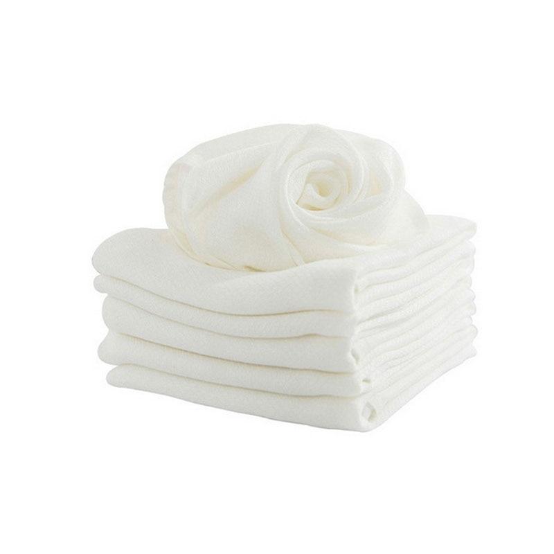 1 Pc Bambus Faser Kinder Waschen Baby Fütterung Gesicht Handtücher Infant Wischen Waschen Tuch Neugeborene Taschentuch Bad Handtuch Weiß Farbe Exzellente QualitäT