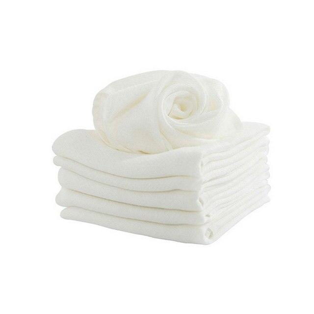 1 pieza de fibra de bambú para niños que lavan las toallas de la cara del bebé paño de lavado para recién nacidos Toalla de baño de Color blanco