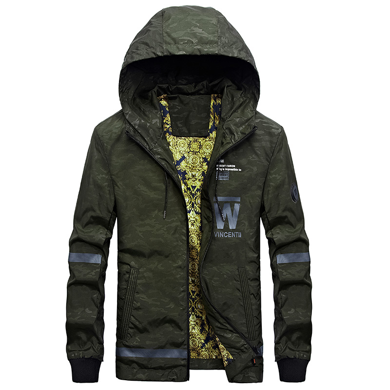 Spring and Autumn Camouflage windbreaker Fashion casual hooded mens jacket tactical military jacket windbreakers for men M-3XL