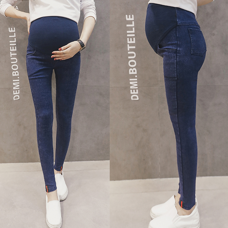 0419604e4685f Autumn Stretch Skinny Maternity Pants Plus Size High Waist Belly Pencil  Trousers Clothes for Pregnant Women Pregnancy Legging | The Brand Shop