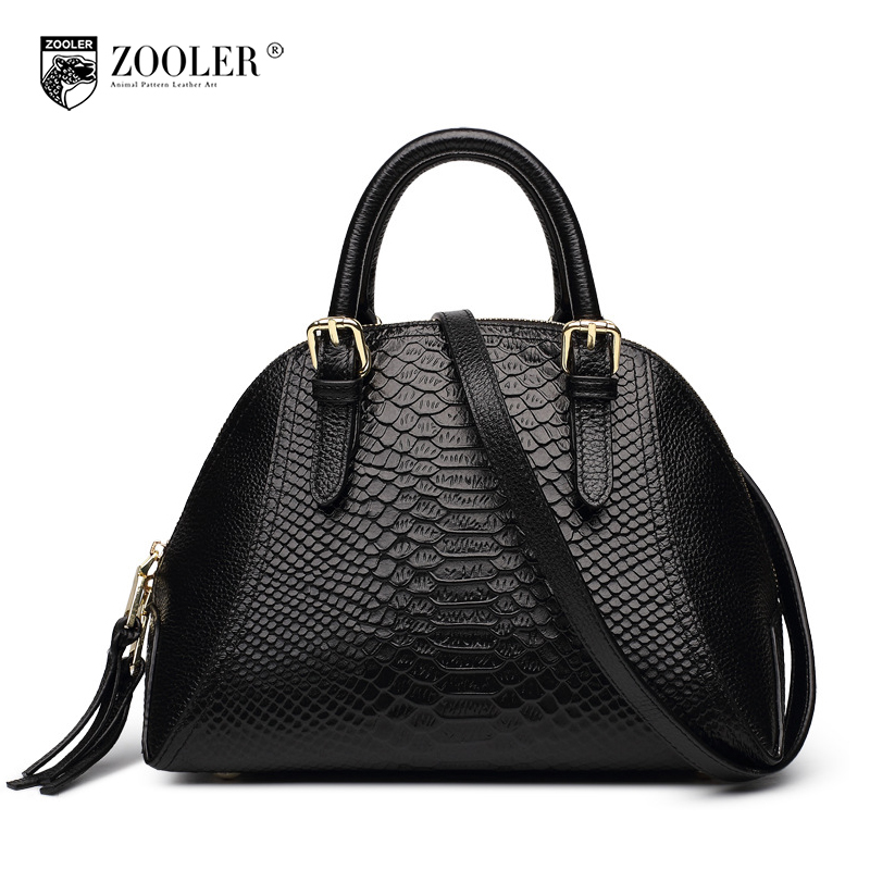 ZOOLER Fashion Genuine Leather Handbags European and American Style Serpentine Pattern Shell Bag Women Messenger Shoulder Bags dtbg pu leather women handbag fashion european and american style totes messenger bag original design briefcase zipper 2017