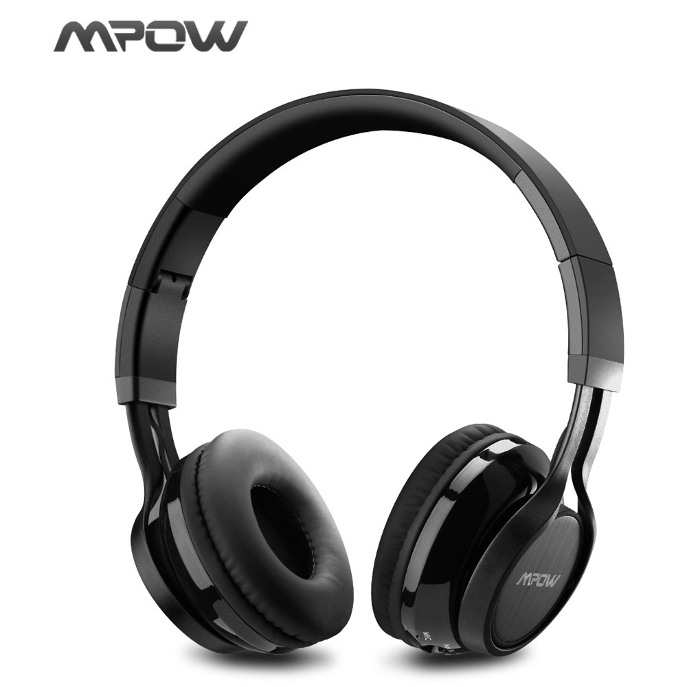 MPOW Bluetooth Stereo Headphones Wireless/Wired Noise Cancelling Headset With Microphone for iPhone 8 7 6S Xiaomi Samsung Huawei wireless bluetooth headset mini business headphones noise cancelling earphone hands free with microphone for iphone 7 6s samsung