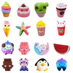 Squishy jouet pingouin dent citrouille squishies lente augmentation 10 cm 12 cm doux serrer mignon téléphone portable sangle cadeau Stress enfants jouets