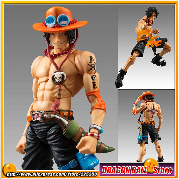 Japanese Anime ONE PIECE Original MegaHouse(MH) Variable Action Heroes /  VAH Action Figure - Portgas D. Ace japan anime one piece original megahouse variable action heroes action figure rob lucci