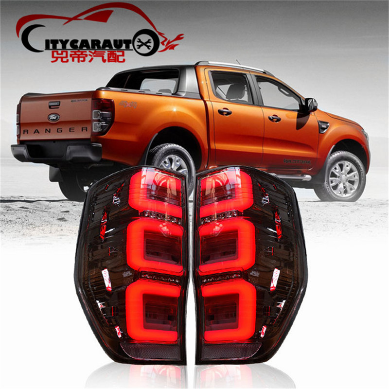 CITYCARAUTO REAR LED TAIL LIGHTS LAMP BACK BRAKE STOPING WORKING LIGHTS TURNING FEATURE FIT FOR  RANGER T6 T7 TXL TL 2012-17 billet rear hub carriers for losi 5ive t