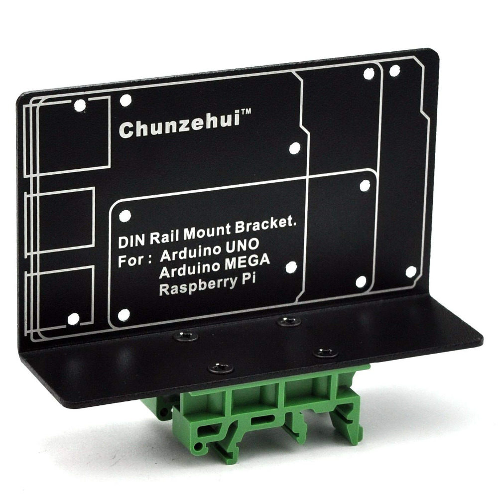 DIN Rail Mount Bracket for Raspberry Pi 2 3 B B+ Zero UNO MEGA.-in Terminal Blocks from Home Improvement