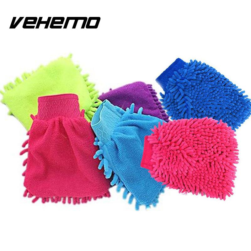 Car Vehicle Microfiber Soft Coral Chenille Fleece Washing Cleaning Glove
