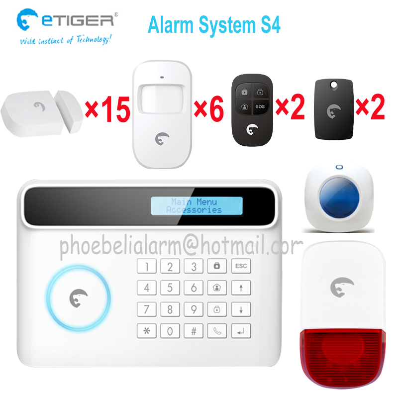 Wireless GSM Alarm System For Home security System with PIR motion sensor /Door Sensor GSM band