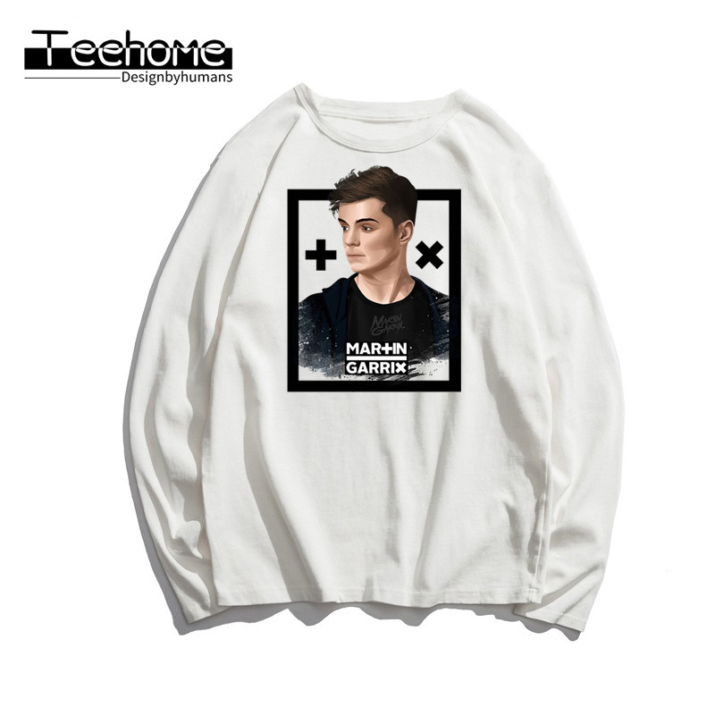 Men's Martin Garrix Fashion Print Long Sleeve Autumn Men and Women Full Sleeve Harajuku T Shirt Winter Streetwear