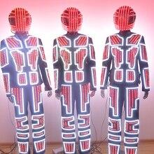 LED Robot Suits Luminous Costumes Men Illuminated Glowing Costumes Robot Suits LED Light Clothes Fashion Business performance