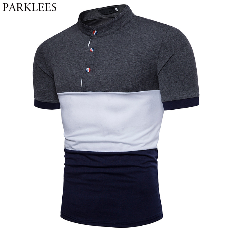 2018 Neue Ankunft Sommer Männer Polo-shirt Patchwork Dünne Kurze Polo Homme Casual Marke Top Polos Shirt Camisa Polo Masculina Kaufen Sie Immer Gut
