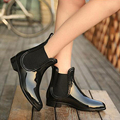 Rubber Boots 2017 Waterproof Trendy Jelly Women Ankle Rain Boot Elastic Band Solid Color Rainy Shoes Women 628W