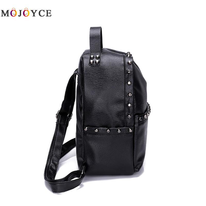 Classic Rivets Women Mini Backpacks Pu Leather Street Casual Girls Shoulder Zipper School Backpacks Mochila Feminina #3