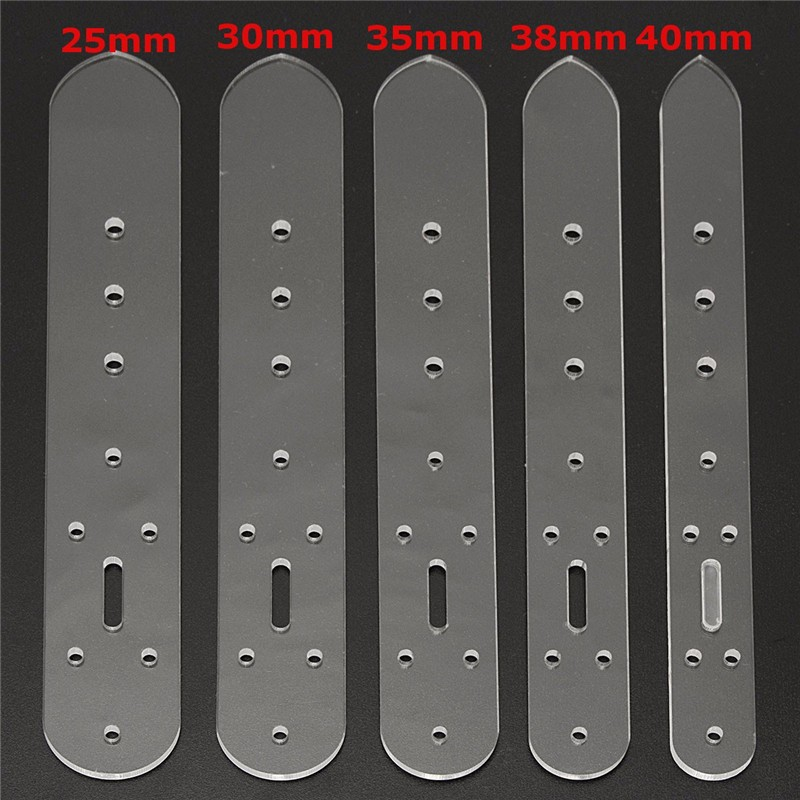 Vendita calda Pratico 5 pz Artigianale In Pelle Cintura Acrilico Billet Testa Fibbia End Modelli Stencil Set di Strumenti per Mano FAI DA TE accessori
