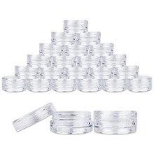 100 шт, баночки для образцов, 5 мл, пластиковый прозрачный контейнер для образцов, мини-бутылка, Баночки, косметические инструменты, баночки для макияжа, пустая бутылка
