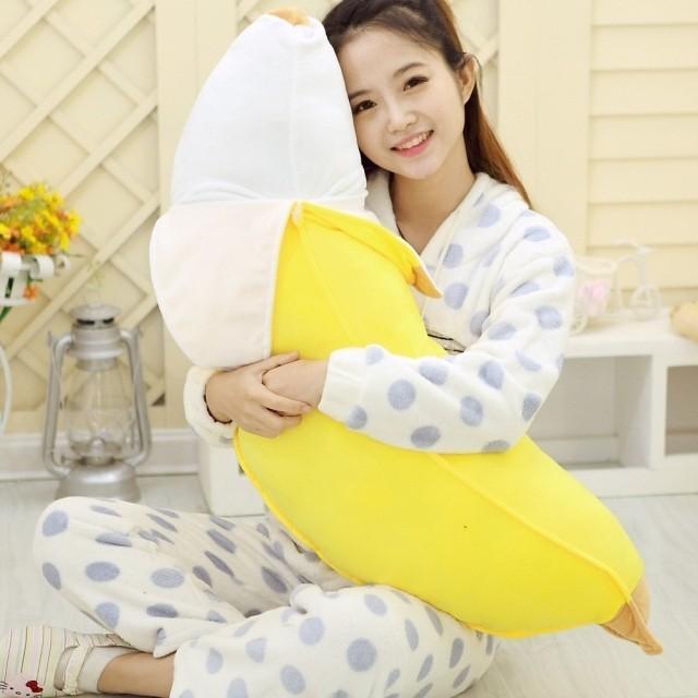 Brinquedo de simulação de banana Banana grande travesseiro lindo dia dos namorados criativo presente especial de cerca de 100 cm