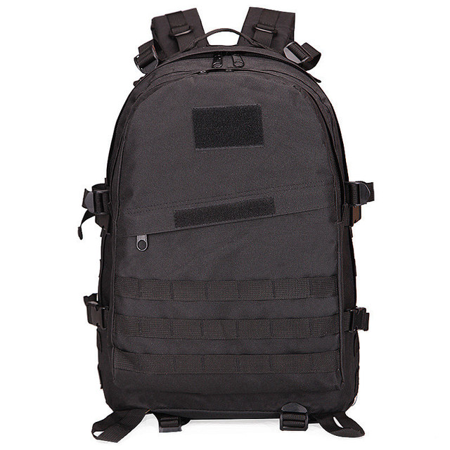 40L Molle 3D Military Tactical Backpack Rucksack Hike Camping Trekking Bag Black