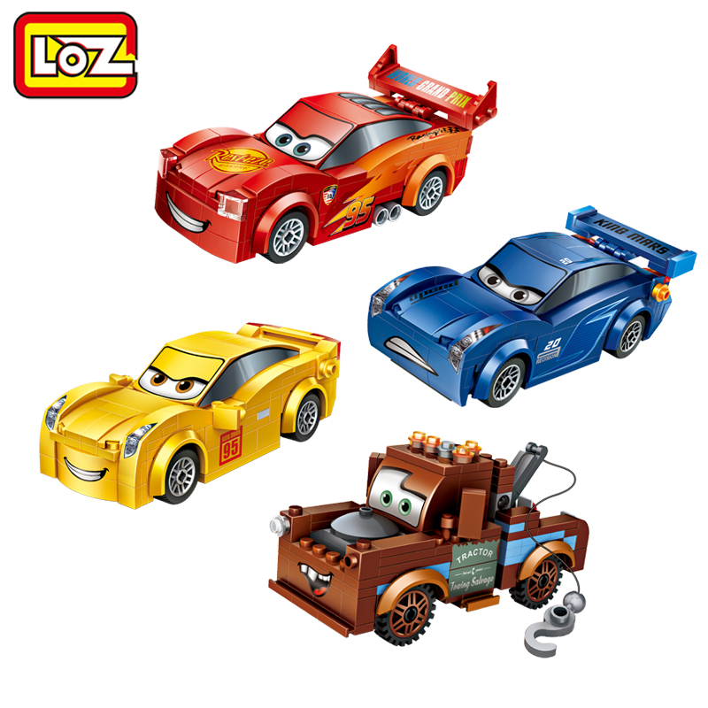LOZ Racing Car Lightning Storm Trailer Mini Building Blocks Figure Toy Assemblage Toys