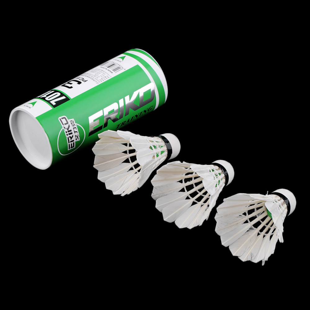 3 x Training White duck feathers Badminton Shuttlecocks Birdies Ball Game Sport Entertainment Product Badminton Balls with Can