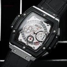 BAOGELA herren Lederband Wasserdicht Quarz Uhren Armee Sport 24 Stunden Analog Chronograph Armbanduhr für Mann 1703 Weiß