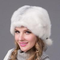 Winter Fur Hat Women's Real Fur Hat Flower Design Russian Fashion Style Good Quality Ladies Luxury Headwear DHY 62
