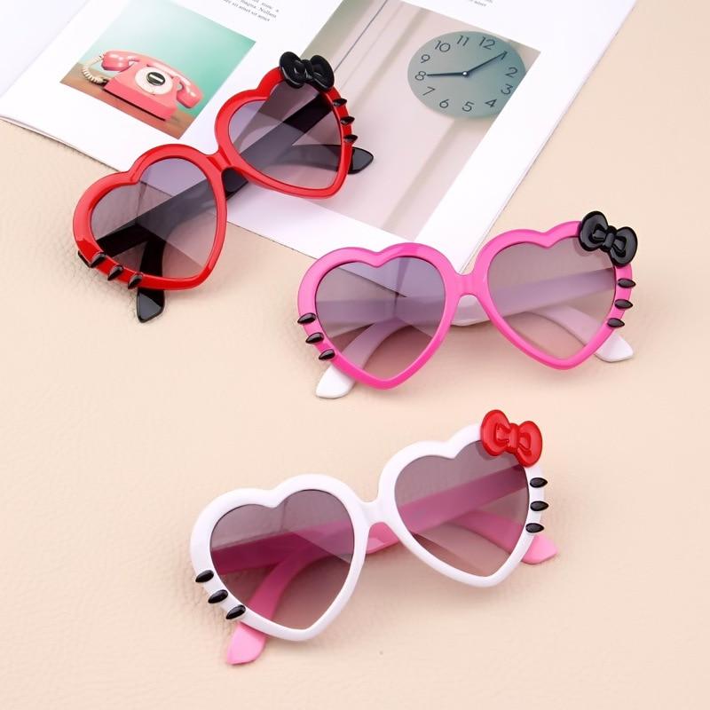 Children Lovely Heart Shape Sunglasses Baby Glasses For Girls Boys Students Kids Sunglasses Shades For Children UA400